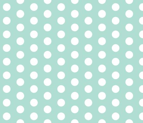 mint polka dots fabric by charlottewinter on Spoonflower - custom fabric