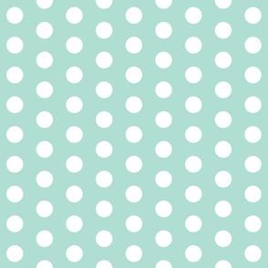 mint polka dots