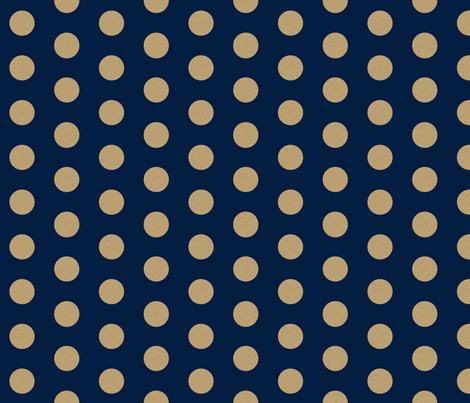 gold glitter navy polka dots fabric charlottewinter spoonflower