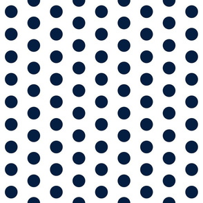 navy white polka dots