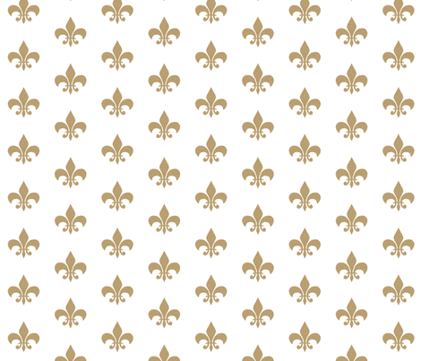 gold glitter fleur de lis fabric by charlottewinter on Spoonflower - custom fabric