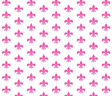 magenta fleur de lis fabric by charlottewinter on Spoonflower - custom fabric