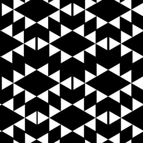 black and white aztec triangles