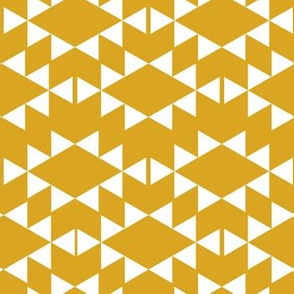golden yellow white aztec triangles