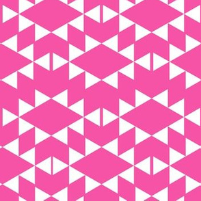 magenta white aztec triangles