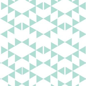 mint aztec triangles