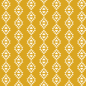 golden yellow aztec triangles