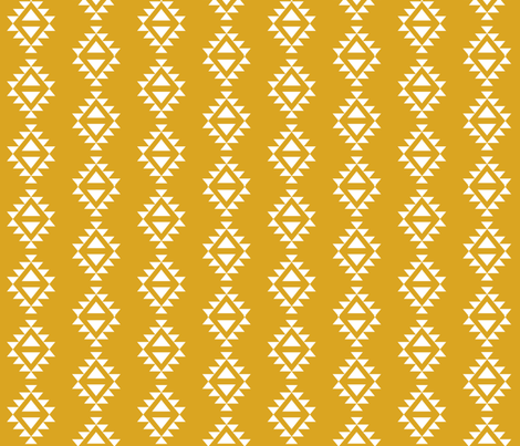 golden yellow aztec triangles fabric by charlottewinter on Spoonflower - custom fabric