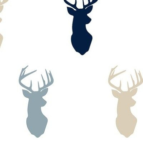 multi buck head blue // rustic woods collection