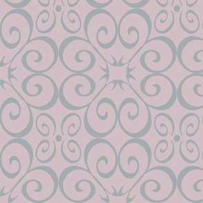 Pink and Grey E design