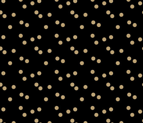 gold glitter scattered polka dots fabric by charlottewinter on Spoonflower - custom fabric