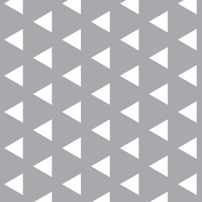 Rotated Grey with White Triangles - Grey Triangle