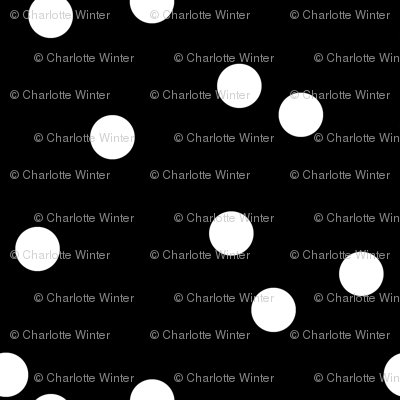 black white scattered polka dots