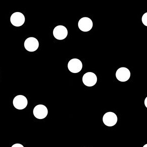 black white scattered polka dots