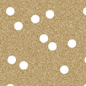 gold glitter white scattered polka dots