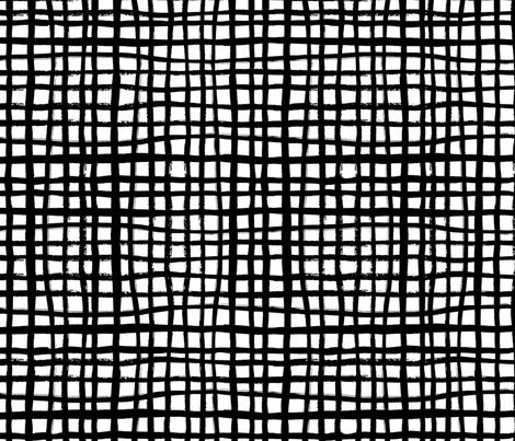 grid - black and white design scandi minimal design fabric by charlottewinter on Spoonflower - custom fabric