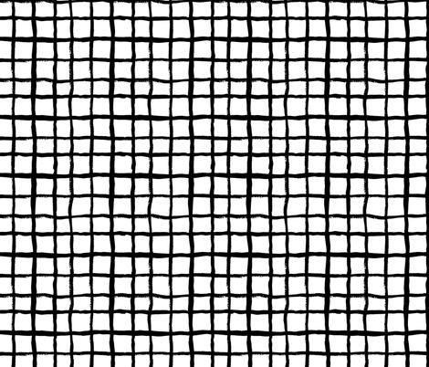 grid (2) simple black and white classic design  fabric by charlottewinter on Spoonflower - custom fabric