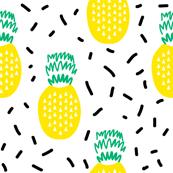 pineapple fruit summer  minimal kids design