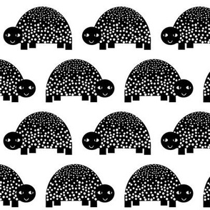 turtle black and white minimal monochrome kids modern swedish animal design