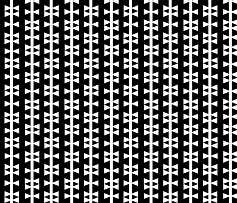 black white triangle stripe fabric by charlottewinter on Spoonflower - custom fabric