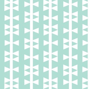 mint triangle stripe