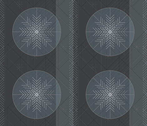 Retro Modern Snowflakes by Friztin fabric by friztin on Spoonflower - custom fabric