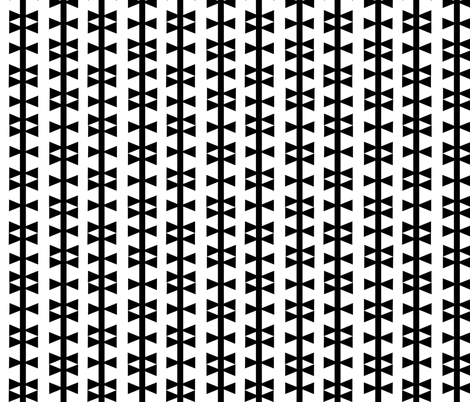 triangle stripe black white fabric by charlottewinter on Spoonflower - custom fabric