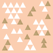gold glitter blush triangle town