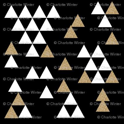 gold glitter black triangle town