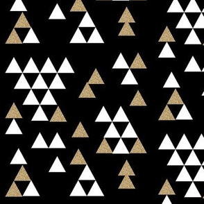 gold glitter black triangle town