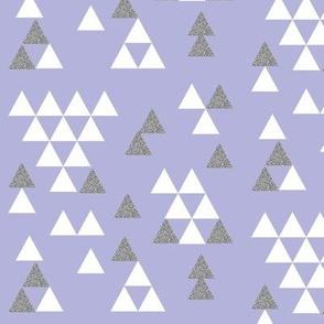 silver glitter lavender purple triangle town