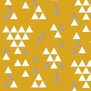 golden yellow glitter triangle town