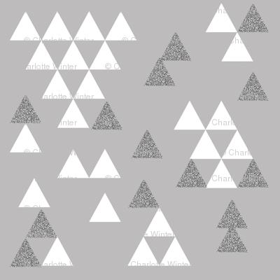 silver grey glitter triangle town