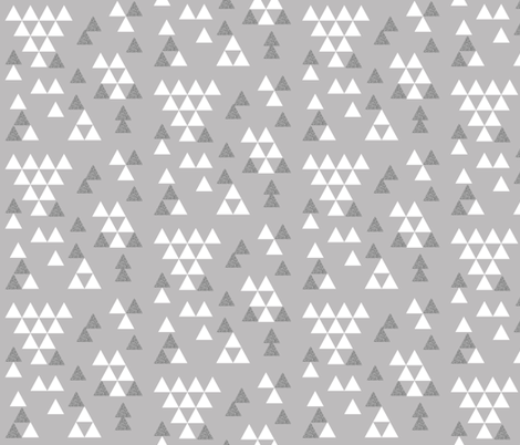 silver grey glitter triangle town fabric by charlottewinter on Spoonflower - custom fabric