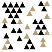 black white gold glitter triangle town