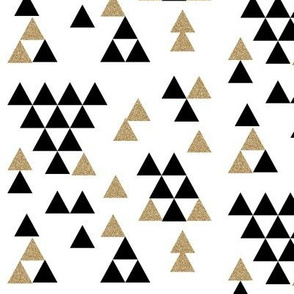 black white gold glitter triangle town