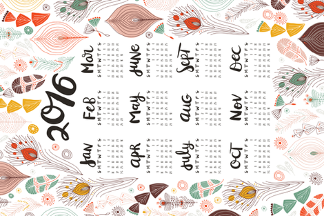 teatowel_2015calendar_02-01 fabric by muffin_grayson on Spoonflower - custom fabric