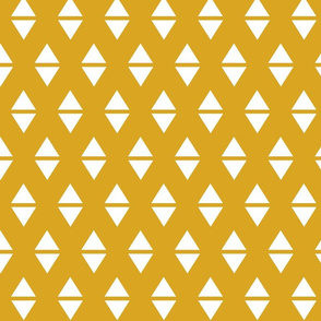 golden yellow white triangle