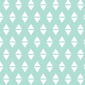mint white triangle