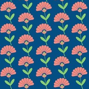 Art Deco Fan flower //coral Fan Flower