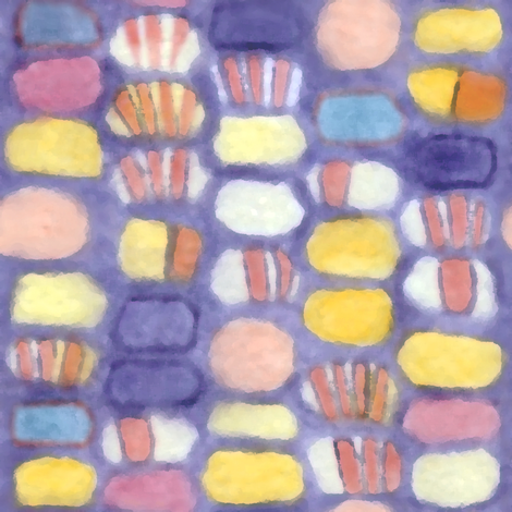 Harvest Blue fabric by katartis on Spoonflower - custom fabric