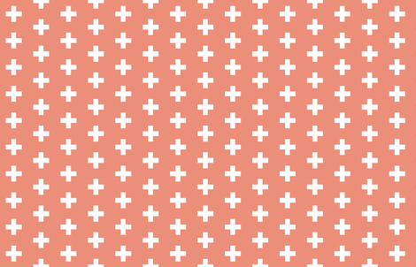 Melon Crosses - Melon Plus Signs fabric by modfox on Spoonflower - custom fabric
