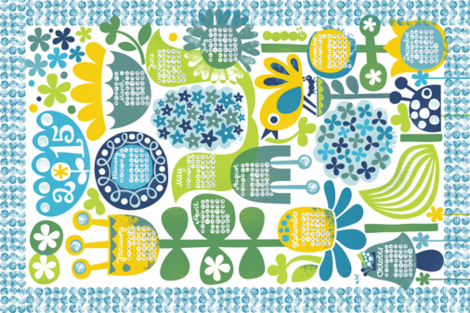 2015 in Bloom fabric by christinewitte on Spoonflower - custom fabric