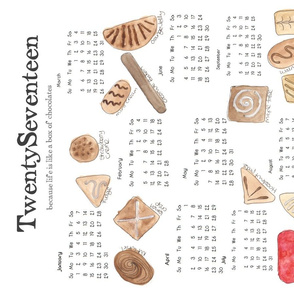 2017 Chocolates calendar FQ Kit