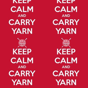 Keep Calm Carry Yarn Knitting - red  solid