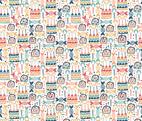 Happy Birthday! fabric by studio_amelie on Spoonflower - custom fabric