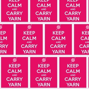 Keep Calm Carry Yarn Crochet - watermelon panel