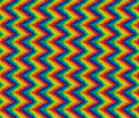 Chevron Rainbow fabric by samandi on Spoonflower - custom fabric