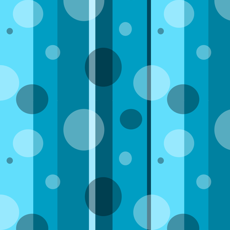 Blue Circles and Stripes fabric by ottdesigns on Spoonflower - custom fabric