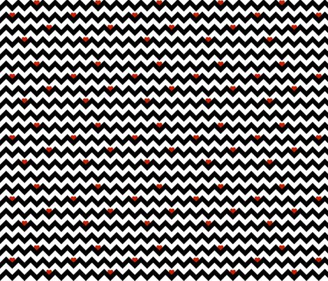 heart & chevron - black/red - mini fabric by minky_gigi on Spoonflower - custom fabric